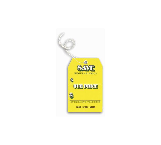 """""""Save"""" Tags, Stock, Yellow, Small192"""