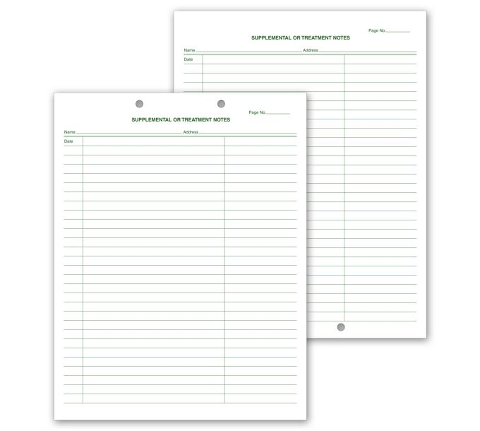 20001V-Supplemental & Treatment Notes, Two Hole Punch20001V