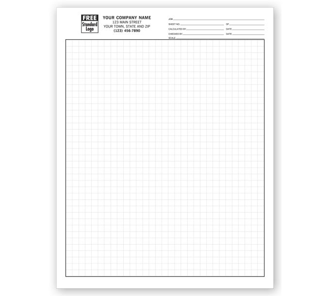 """205-Graph Papers, Standard 1/4"""", Padded205"""