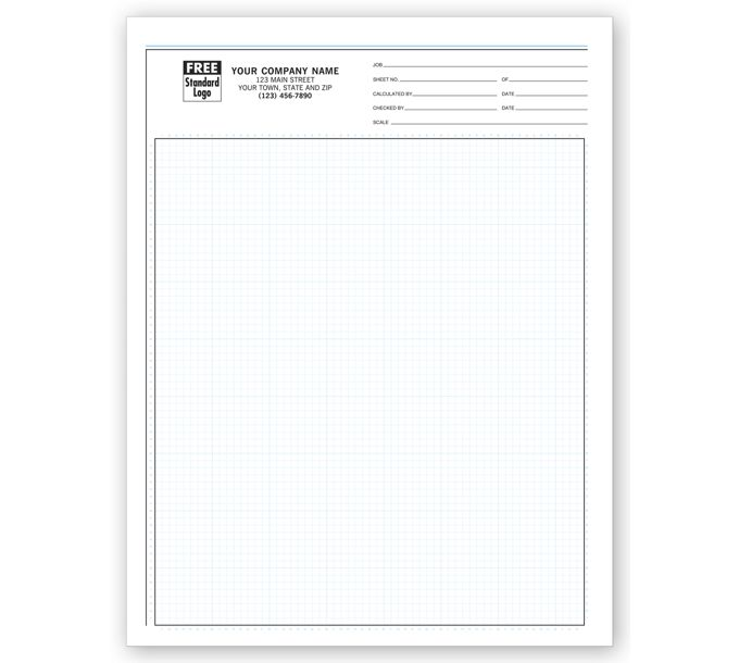 """207-Graph Papers, Pro-Sketch, 1/8"""", Padded207"""