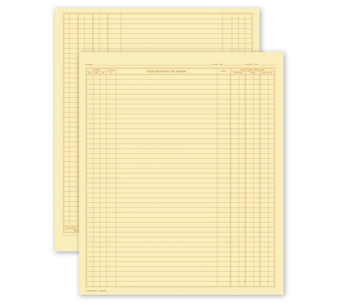 20915-Dental Continuation Form for Folder-Style Records, Large20915