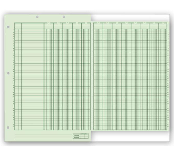 Columnar Work Sheets, Ring Book, Bottom Headed21126