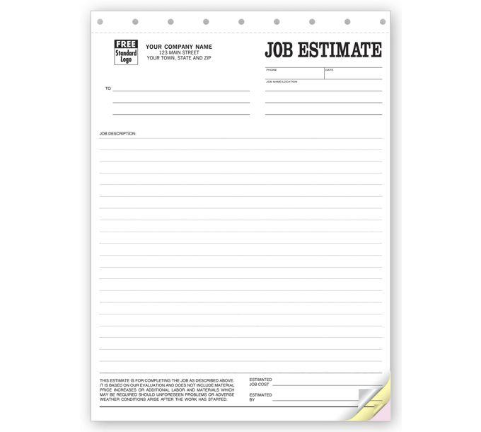 215-Job Estimate Forms, Sets215