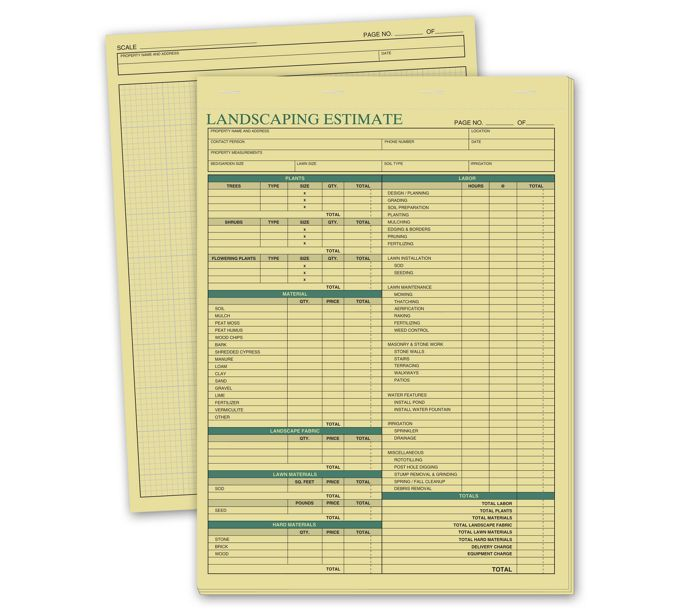 223-Landscaping Estimate Forms223