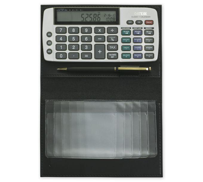 Large Cover Datexx Checkbook Calculator2342