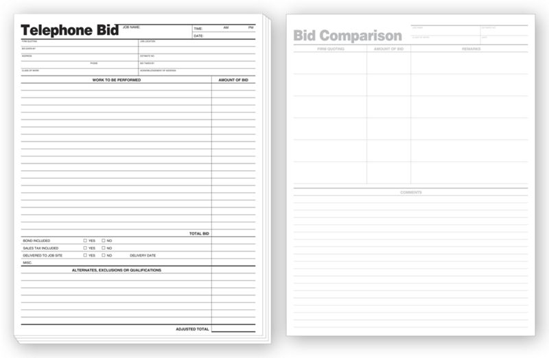 Business Forms Telephone Bids 238 By Deluxe