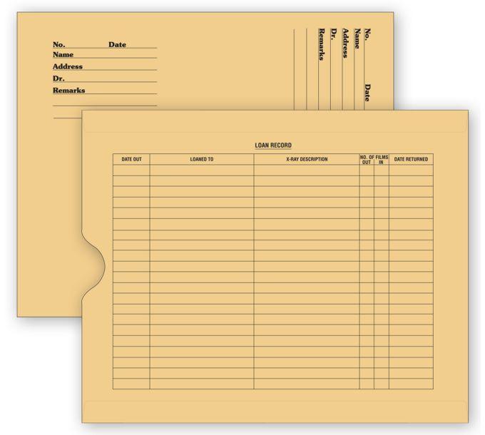 2663-X - Ray File Pocket Envelopes, 32 lb. Kraft, Pre-Printed2663