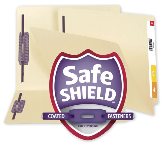 Smead End Tab File Folder with SafeSHIELD Fasteners, 11 PT34117