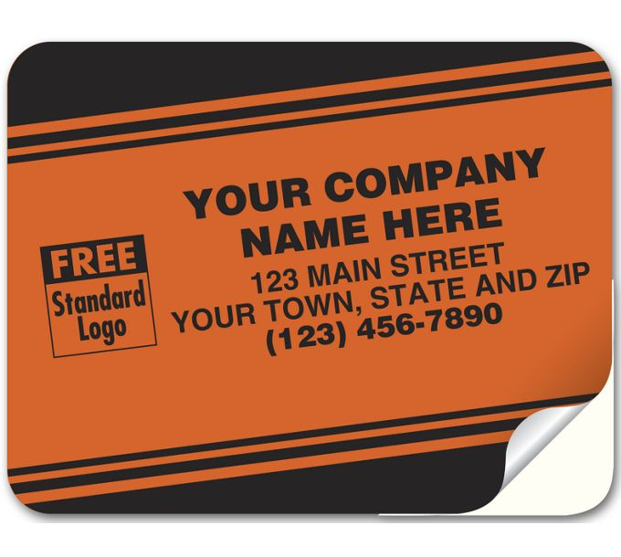 353-Tuff Shield Labels, Laminated Paper, Red Fluorescent353