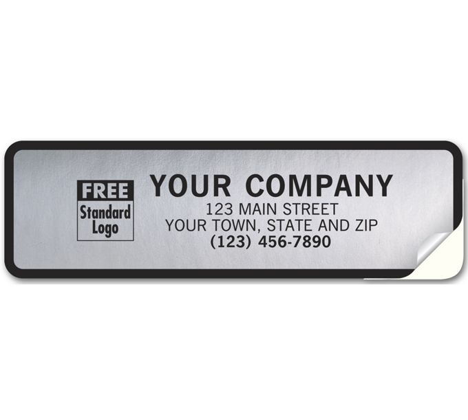 357-Tuff Shield Weatherproof Labels, Poly with Black Border357