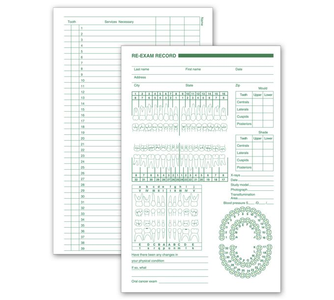 4059-Dental Services Re Exam Records, Primary and Permanent Arch4059