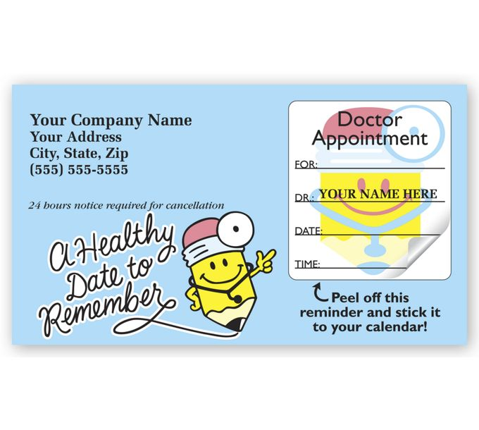 4353-Medical Appointment Cards, Peel and Stick, A Healthy Date4353