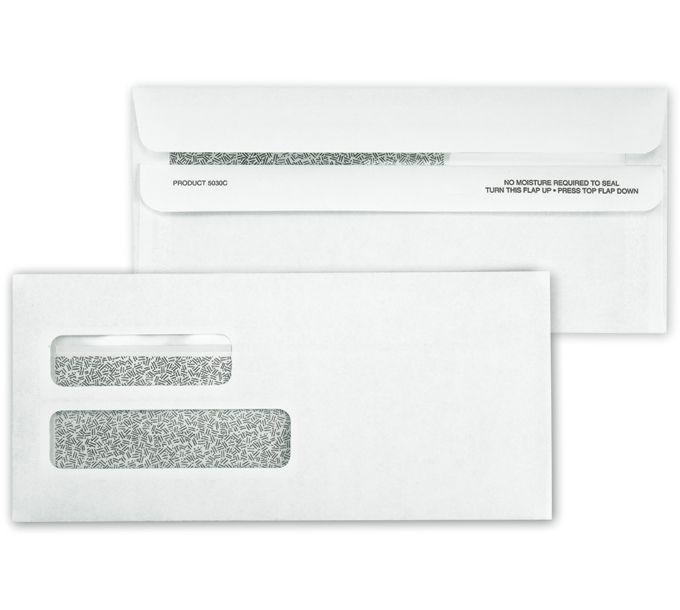 5030C-Double Window Confidential Self Seal Envelope5030C