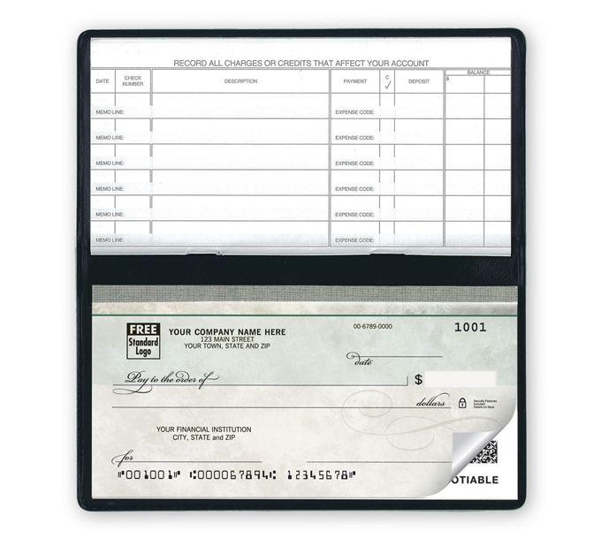 51200N-Compact Size Duplicate Checks, Green Marble Design51200N