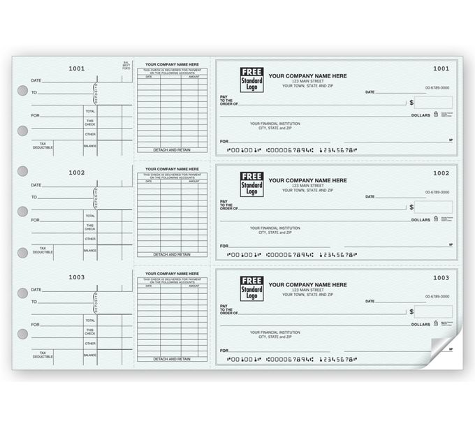 53224N-3-On-A-Page End-Stub Voucher Check53224N