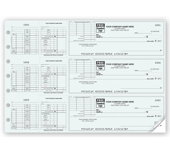 53228N-3-On-A-Page Payroll Check With Corner Voucher53228N