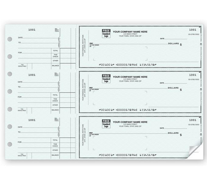 53232N-3-On-A-Page Window Envelope Check53232N