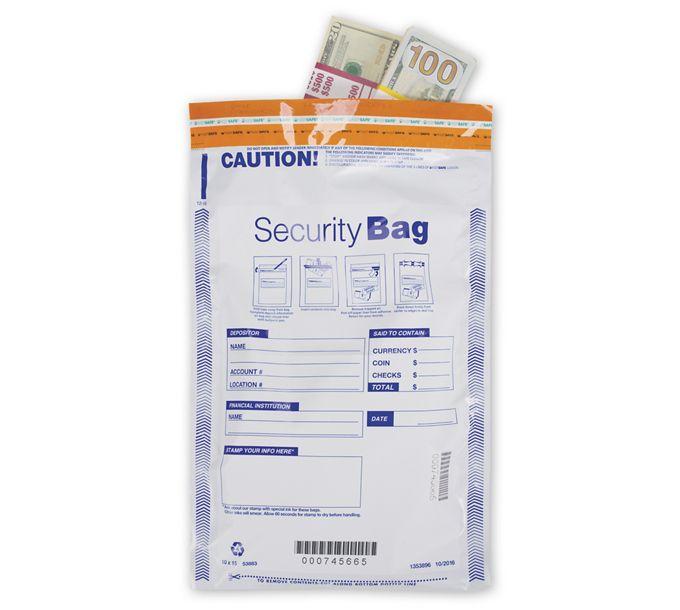 "53883-10x15"" Single Pocket Deposit Bag, Opaque53883"