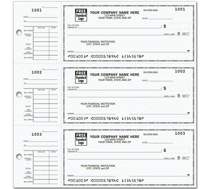56300N-3-On-A-Page Compact Size Checks with Side-Tear Voucher56300N