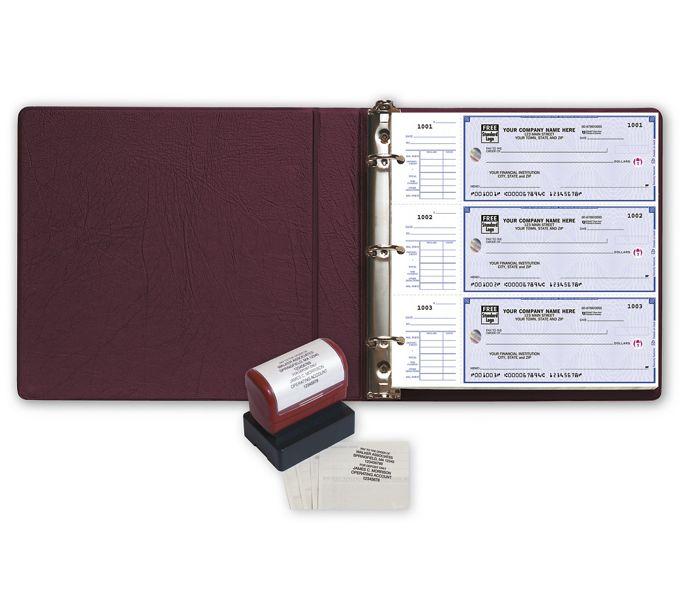 5630HZ-High Security 3-On-A-Page End-Stub Deskbook Value Pack w/CFP5630HZ
