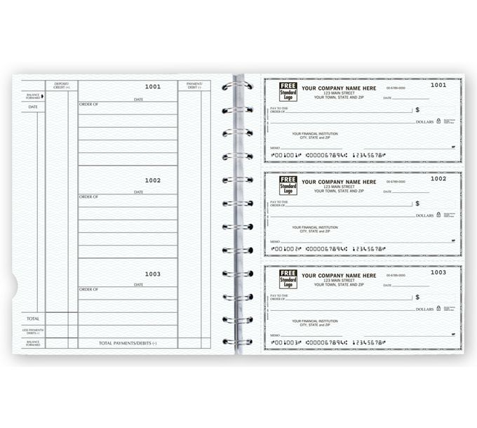56400N-The Newport Deskbook, 3-On-A-Page Compact Size Checks56400N