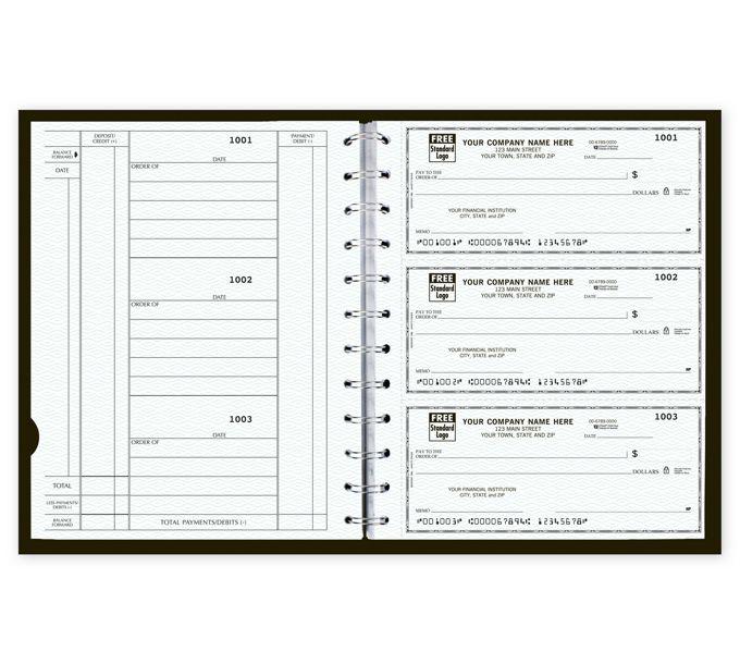 The Newport Deskbook, 3-On-A-Page Compact Checks w/CFP56400Z