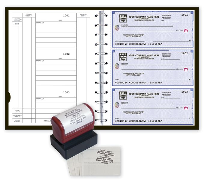 5640HZ-High Security 3-On-A-Page Newport Deskbook Value Pack w/CFP5640HZ