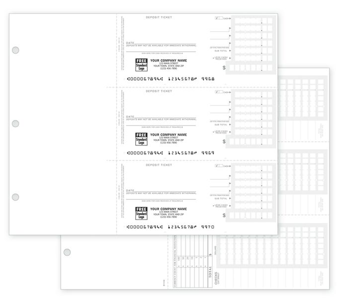 56602N-3-On-A-Page Compact Deposit Tickets for Home Acct Deskbook56602N