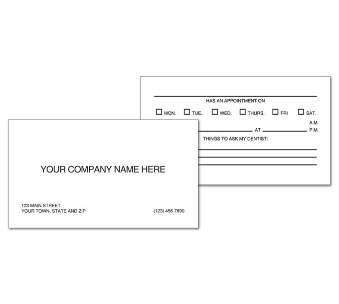 5808-Two-Sided Appointment Business Cards, Imprinted5808
