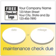 Static Cling Service Label w/Gold Bottom Border 2.5x2.5