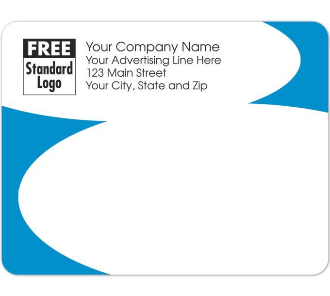 Rectangular Mailing Label w/Blue Corners 5x3 7/858231