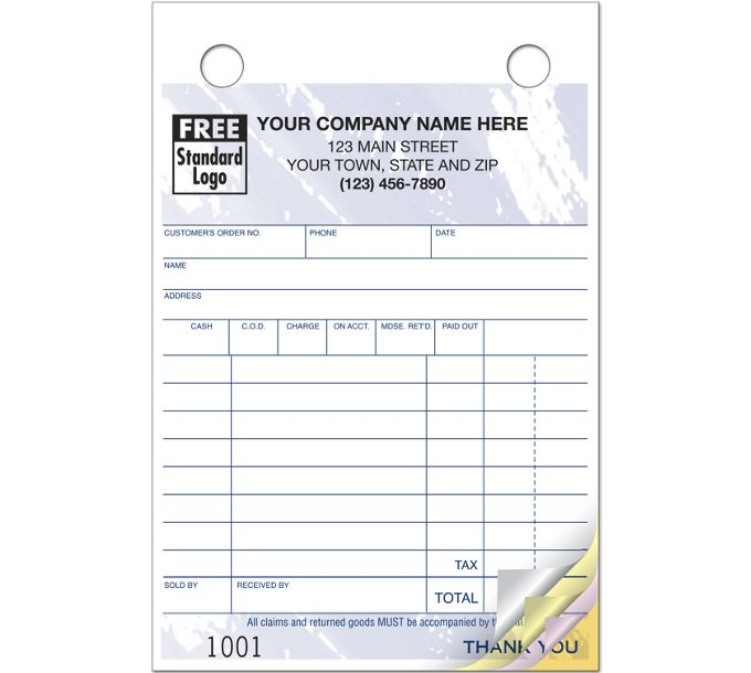 Multi-Purpose Register Forms, Colors Design, Small Format609T