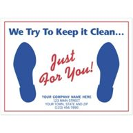 """Auto Floor Mat, """"We Try To Keep it Clean..."""""""