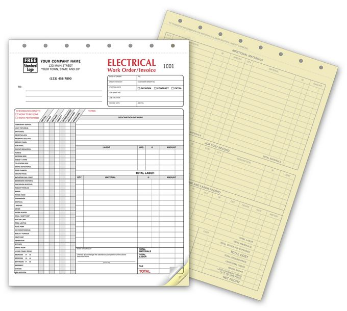 6520-Electrical Work Orders - with Checklist6520