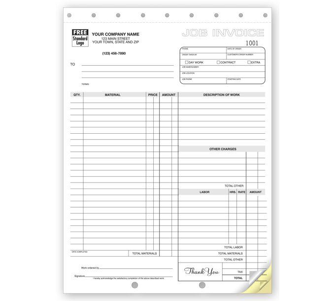 6544-Work Orders, Carbonless, Large Format6544