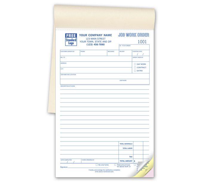 6558B-Job Work Orders - Booked6558B