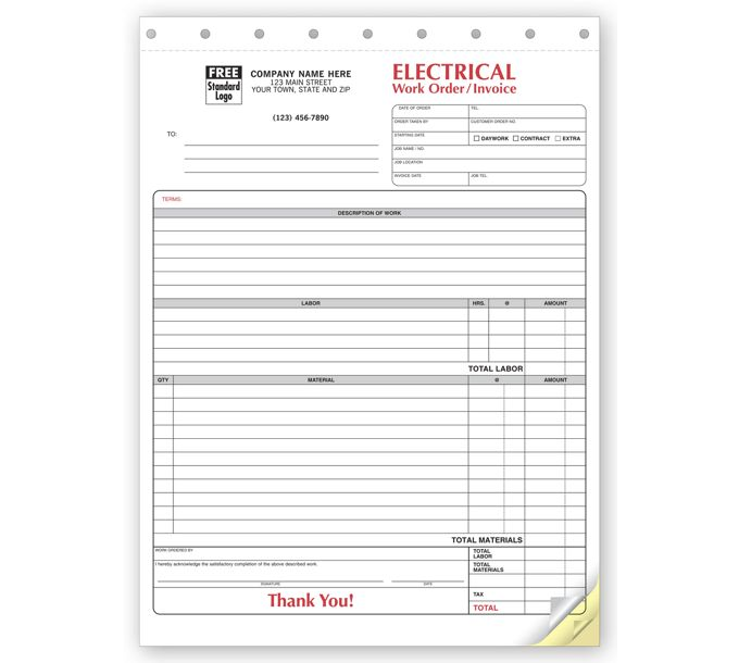 6574-Electrical Forms - Work Orders6574