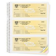 Cash Receipt Books, Classic Design, 3 To Page