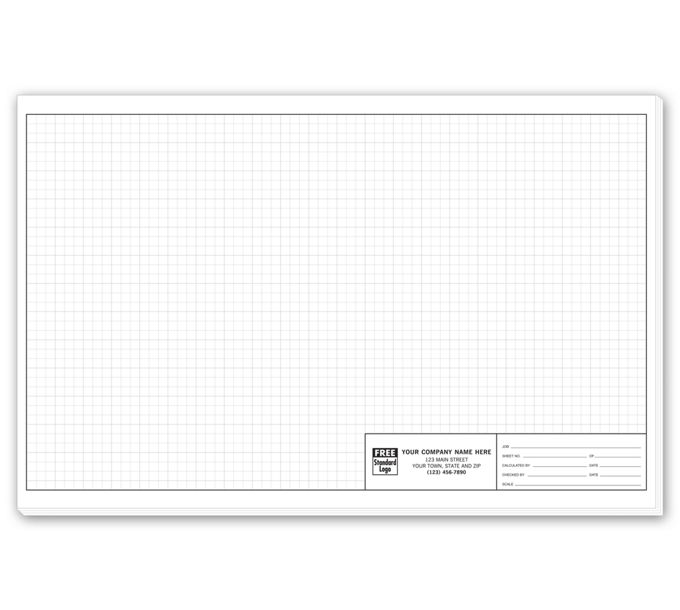 """704-Graph Paper - Standard 1/4"""" Large Padded704"""