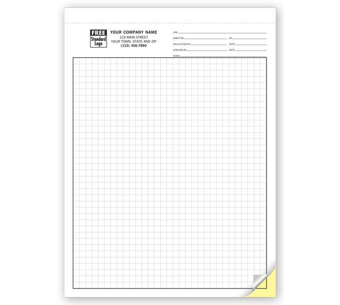"""7205-Graph Paper - 1/4"""" Multi-Part7205"""