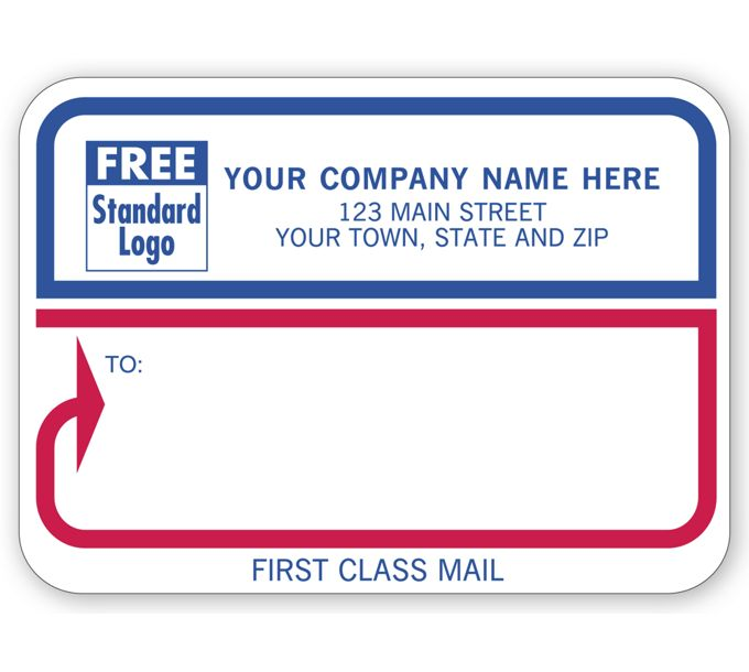"""Padded Mailing Label, """"First Class Mail""""72"""