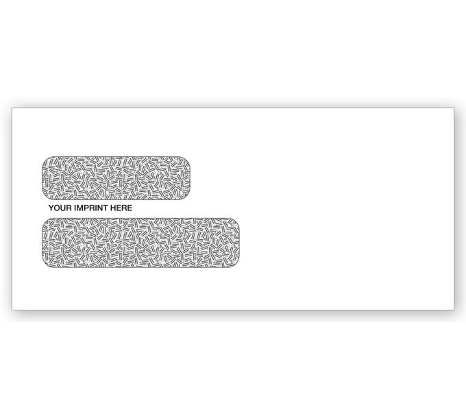 771C-Double Window Envelopes - 9 x 4 1/8 Confidential Envelope771C