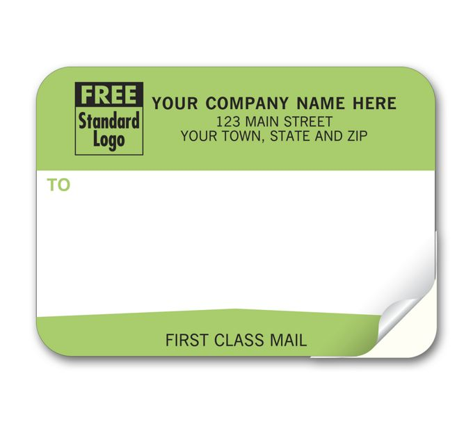 """Padded Mailing Label, """"First Class Mail""""77"""