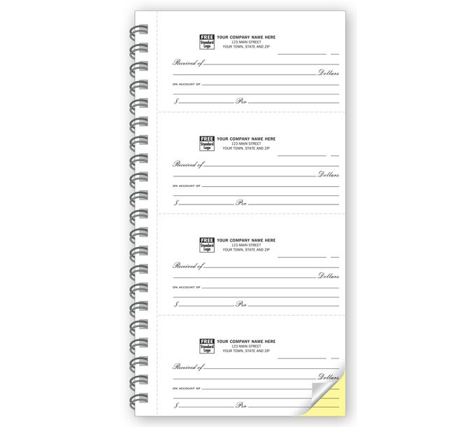4-to-Page 2 Part Receipt Books7936