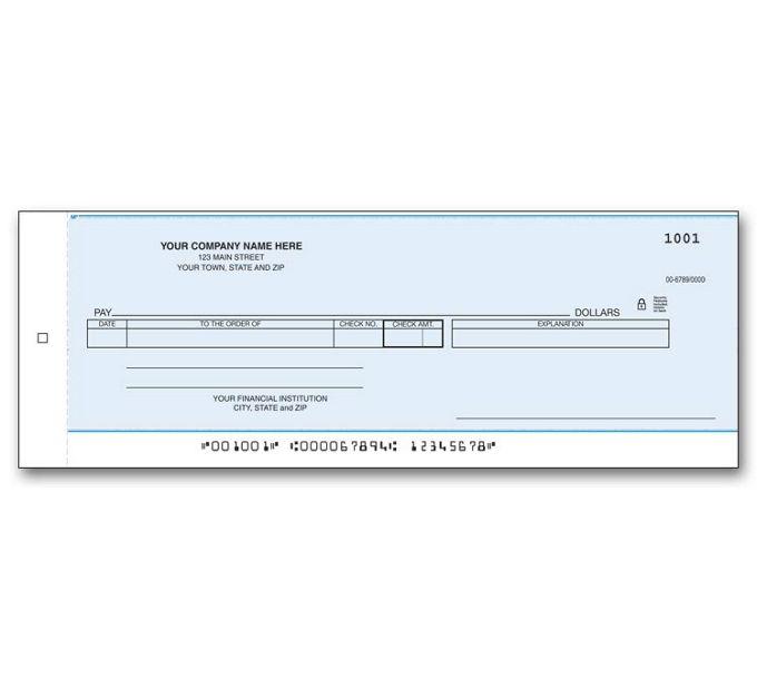 Cash Disbursement Center Check Carbon800CC