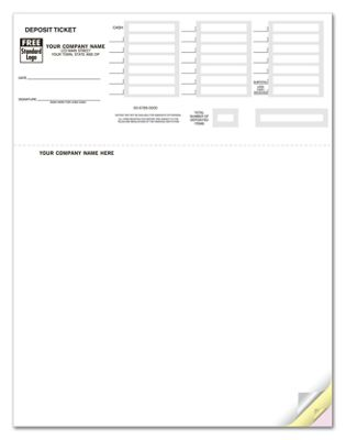 graphic relating to Quickbooks Printable Deposit Slips named Laser Deposit Tickets for Quickbooks - Custom made Published via Magnificent