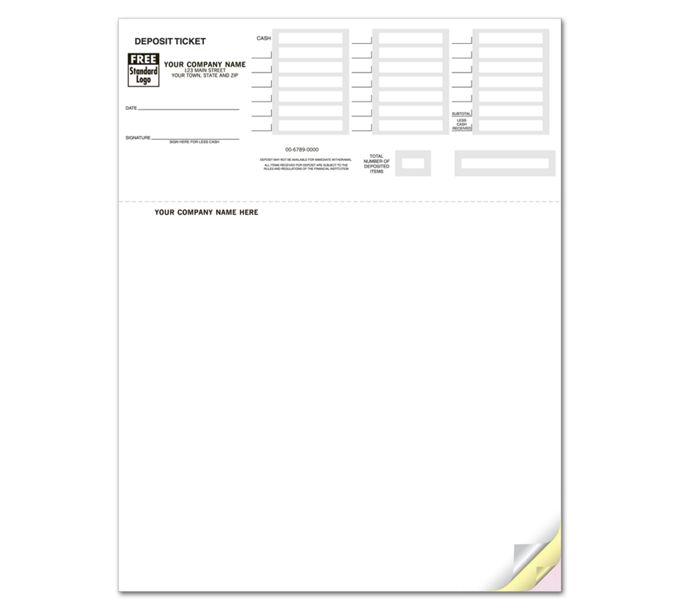 80200-Laser Deposit Tickets, QuickBooks Compatible80200