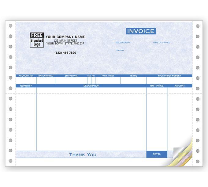 Invoices, Continuous, Parchment9040G