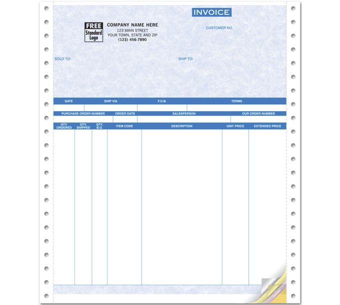 Invoices, Continuous, Parchment9044G