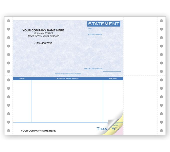 9060G-Continuous Statement Parchment9060G